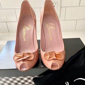 Authentic Delman Sigrid Rosewater Patent Shoes Sz6